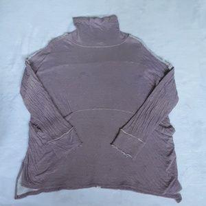Free people light purple oversized turtle neck